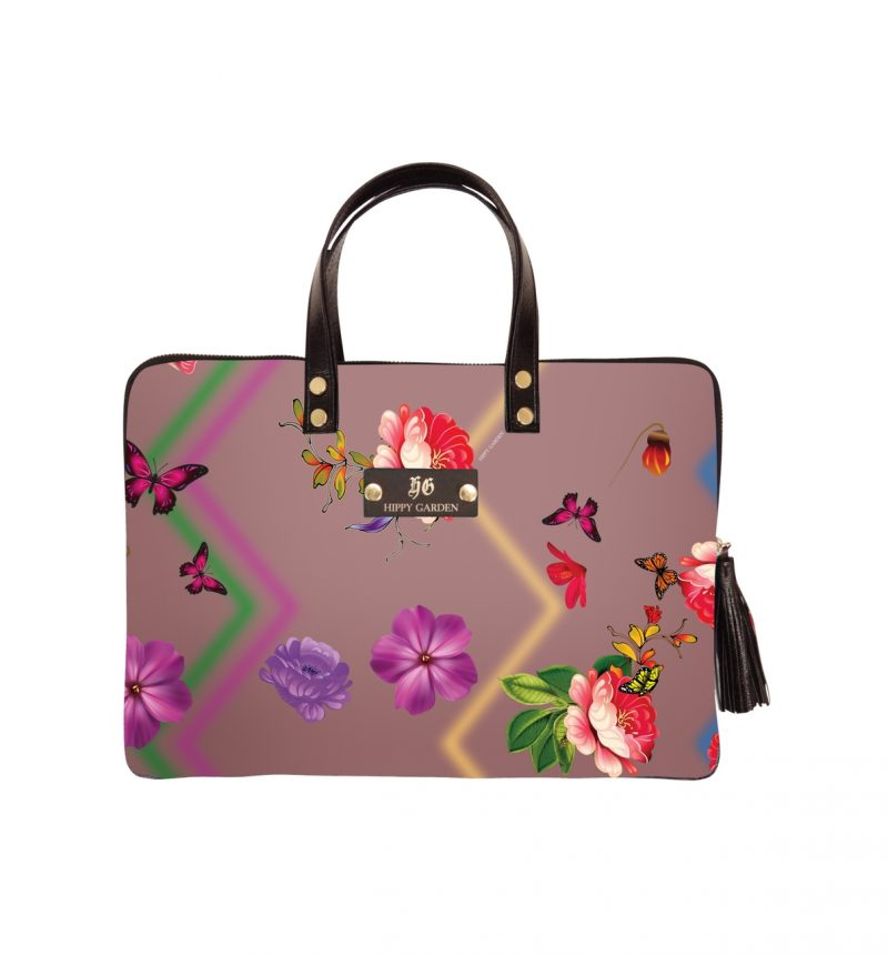 HIPPY GARDEN - JOY FREQUENCY LAPTOP BAG - PINK