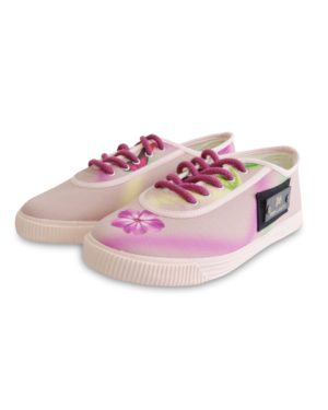 HIPPY GARDEN - JOY FREQUENCY SNEAKERS - POWDER PINK
