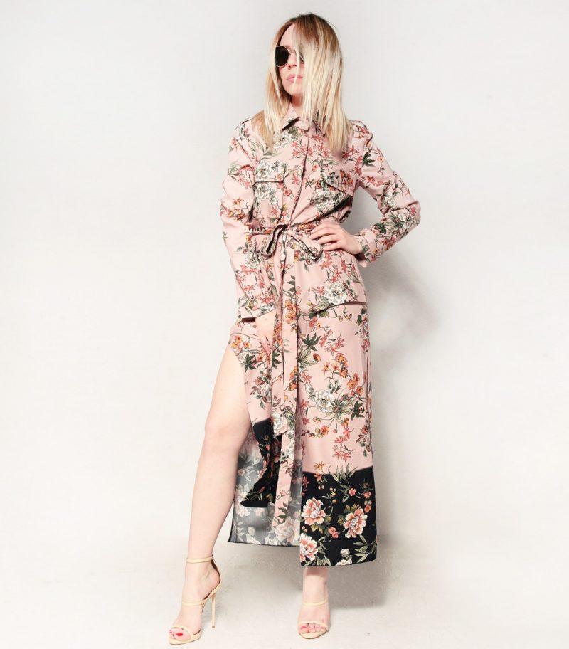 HIPPY GARDEN - FLORAL SHIRT DRESS